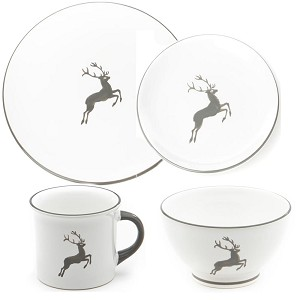 Grey Deer (Stag) Coupe Place Setting