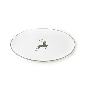 Grey Deer (Stag) Oval Platter 11""