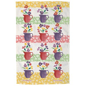 Wallflower Jugs on Shelf Tea Towel