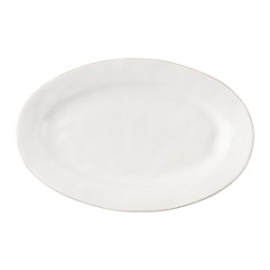 "Quotidien 21"" Oval Platter White Truffle"