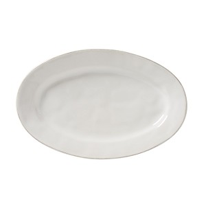 "Puro Whitewash 15"" Oval Platter"