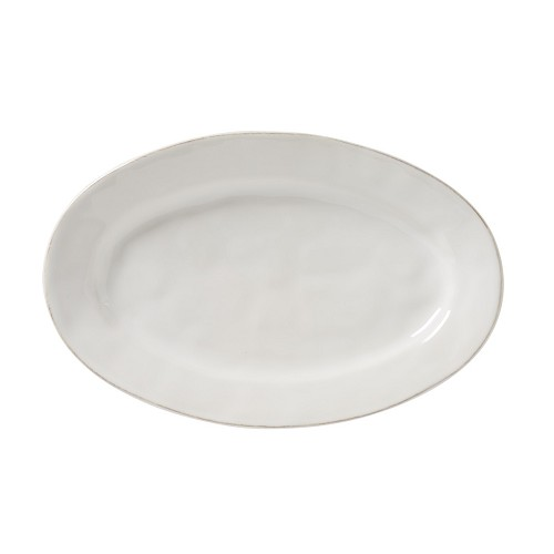 "Puro Whitewash 15"" Oval Platter Retired"