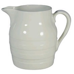 4 Pint Natural White Churn Jug