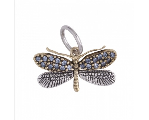 Natural Beauties Dragonfly Sterling/Bronze/CZ