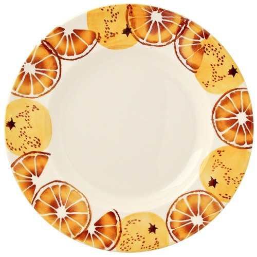 "Oranges 10 1/2"" Dinner Plate 1 Available"