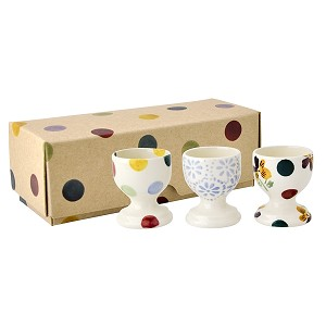 Polka Dot Mix Set of 3 Egg Cups-Retired