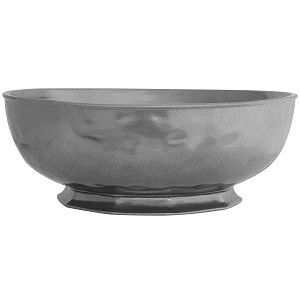 "Pewter Stoneware 14"" Serving Bowl"