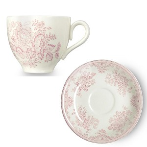 Pink Asiatic Pheasant Cup  and  Saucer