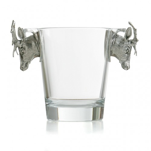 Animale Stag Glass Ice Bucket-Retired