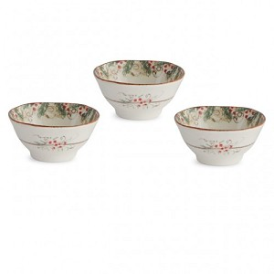 Arte Italica Natale Dipping Bowl Set/3