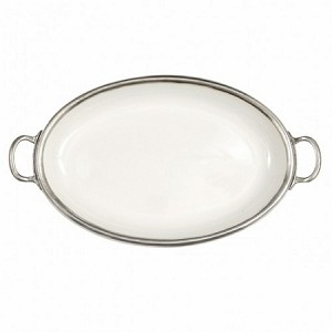 Arte Italica Tuscan Handled Oval Tray