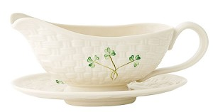 Harp Shamrock Gravy Boat and Stand