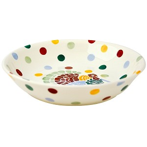 Polka Dot Turkey Pasta Bowl Retired-10 available