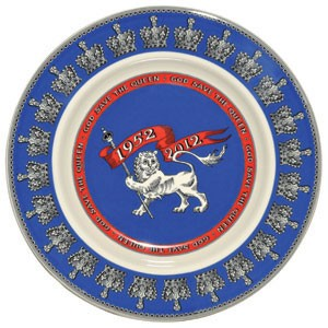 "Diamond Jubilee 8.5"" Plate"
