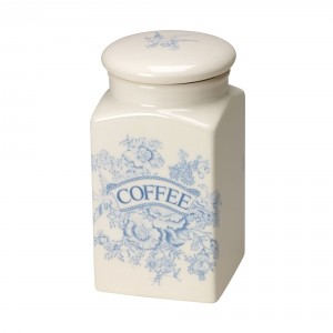 Blue Asaitic Pheasants Coffee Square Covered Storage Jar