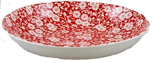 Red Calico Pasta Bowl- 11 available