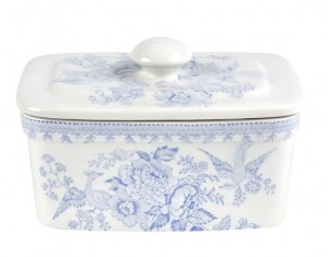 Blue Asiatic Pheasant Butter Dish