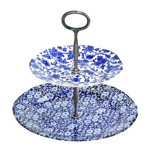 Blue Calico  and  Arden 2 Tiered Cake Stand