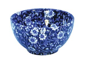 Blue Calico Small Sugar Bowl