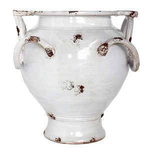 Domus Perla Footed Urn with Twisted Handles