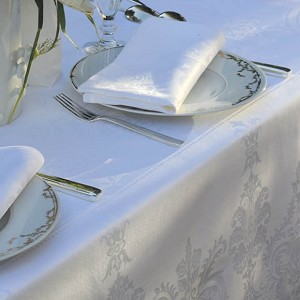 Bearegard WHITE Tablecloth and Accessories