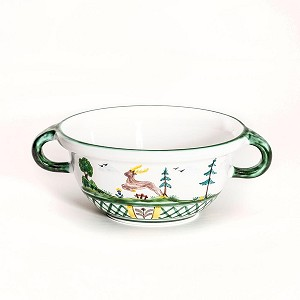 Hunter's Delight Bowl with Handle 6.75""