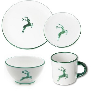 Green Deer (Stag) Coupe Place Setting