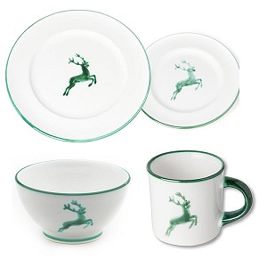 Green Deer (Stag) Gourmet Place Setting