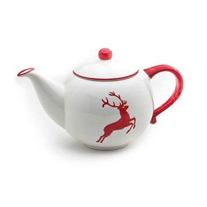 Ruby Red Deer (Stag)  Teapot