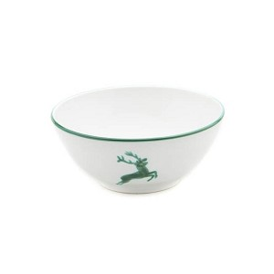 Green Deer Serving Bowl 9.1""