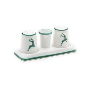 Green Deer (Stag) Classic Salt  and  Pepper