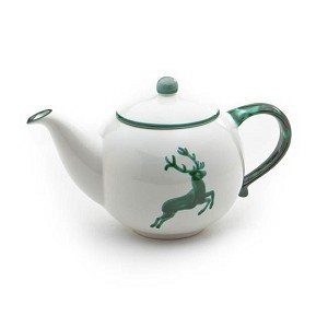 Green Deer (Stag) Classic Teapot 16.9oz