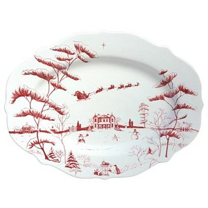 Country Estate Ruby Medium Serving Platter Christmas Eve