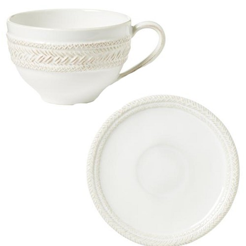 Le Panier Whitewash Cup and Saucer