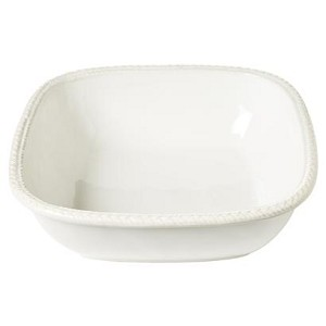 "Le Panier Whitewash 11"" Square Serving Bowl"
