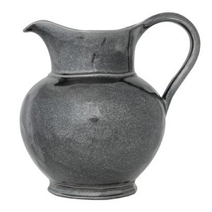 Pewter Stoneware Large Round Pitcher
