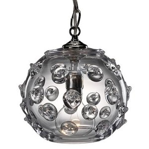 Florence Small Globe Pendant Clear 8""