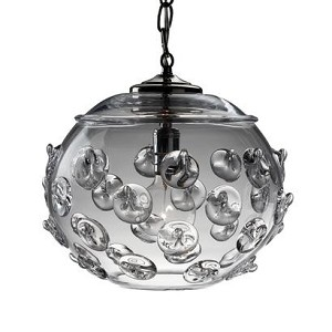 "Florence 12"" Globe Pendant Clear"