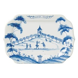 Country Estate Delft Blue Thank you Gift Tray Apple Orchard Retired