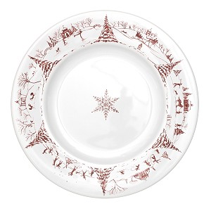 Country Estate Ruby Dinner Plate Winter Frolic Ruby-Retired