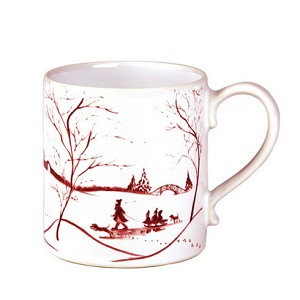 Country Estate Ruby Mug Winter Frolic