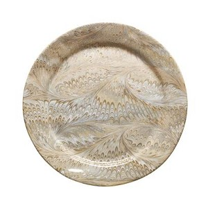 Firenze Marbleized Charger/Server Plate Cappuccino Brown