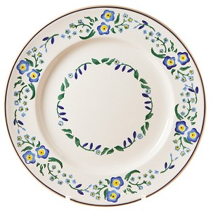 Forget Me Not Serving (Dinner) Plate