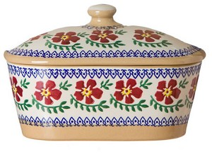 Old Rose Lidded Butter Dish