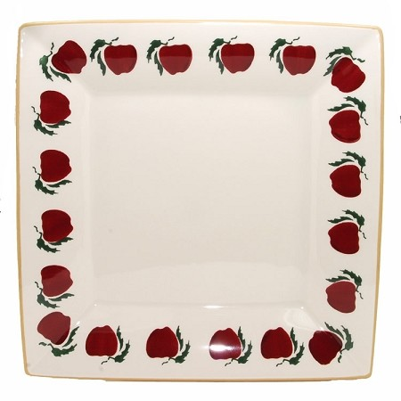 Apple Large Square Plate Retired