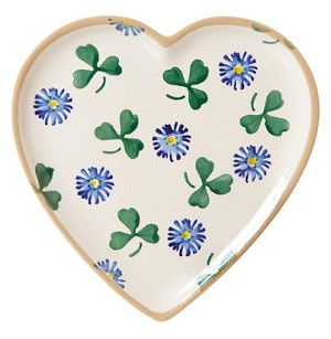 Forget Me Not Med Heart Shaped Plate