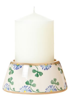 Clover Reversible Candle Holder with Candle