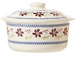 Clematis Medium Lidded Casserole
