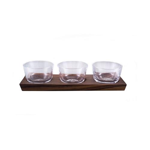 Ludlow Nut Bowl Set with Wood Base Set/3