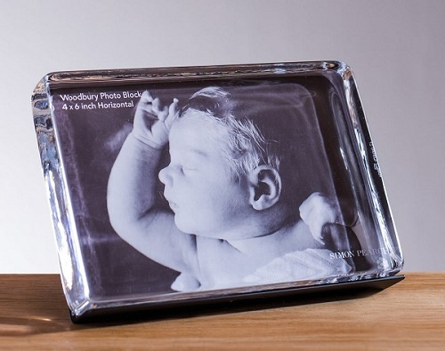 Engraved Woodbury Photo Block 4x6 Horizontal